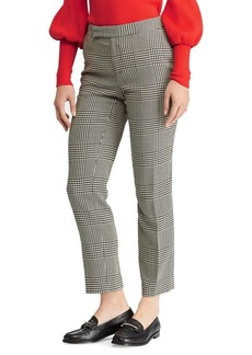 Lauren Ralph Lauren Glen Plaid Mid-Rise Skinny Pants