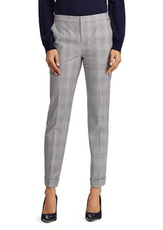 Lauren Ralph Lauren Glen Plaid Straight Leg Pants