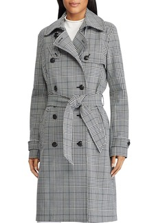 Lauren Ralph Lauren Glen Plaid Trench Coat