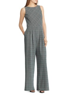 Lauren Ralph Lauren Glen Plaid Twill Jumpsuit