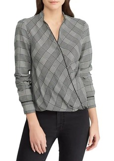 Lauren Ralph Lauren Glen Plaid Wrap Top