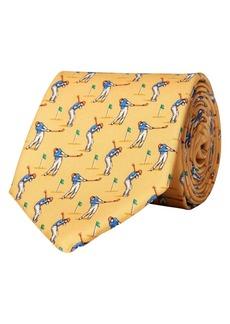 Lauren Ralph Lauren Golfer-Print Silk Tie