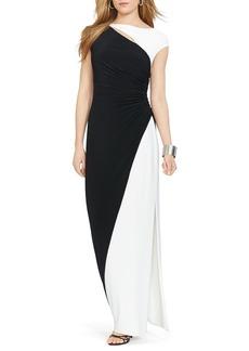 Lauren Ralph Lauren Gown - Color Block Jersey