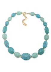 """Lauren Ralph Lauren Graduated Oval Bead Necklace, 18"""""""