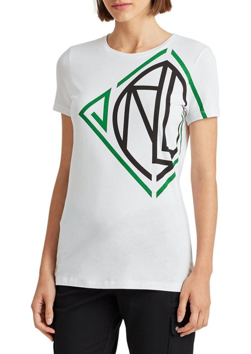 Lauren Ralph Lauren Graphic Logo Cotton-Blend Tee