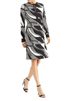 Lauren Ralph Lauren Graphic Print Keyhole Dress