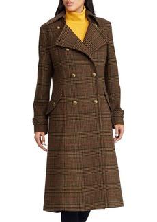 Lauren Ralph Lauren Gun Check-Patterned Coat