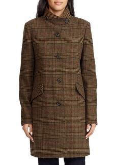Lauren Ralph Lauren Guncheck Wool-Blend Coat