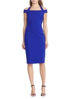 Lauren Ralph Lauren Halter Off-the-Shoulder Sheath Dress - 100% Exclusive