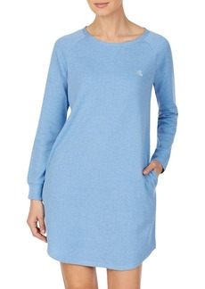 Lauren Ralph Lauren Herringbone Cotton Blend Sleepshirt