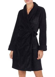 Lauren Ralph Lauren Herringbone Fleece Robe
