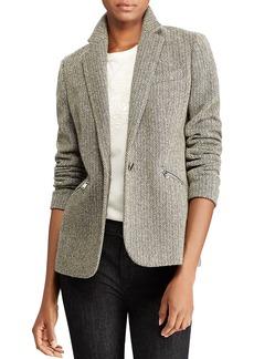 Lauren Ralph Lauren Herringbone Tweed Blazer