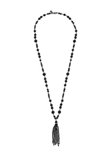 "Ralph Lauren Hide and Chic 32"" Beaded Tassel Necklace"