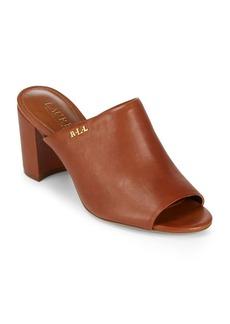 Lauren Ralph Lauren High Heel Leather Mules