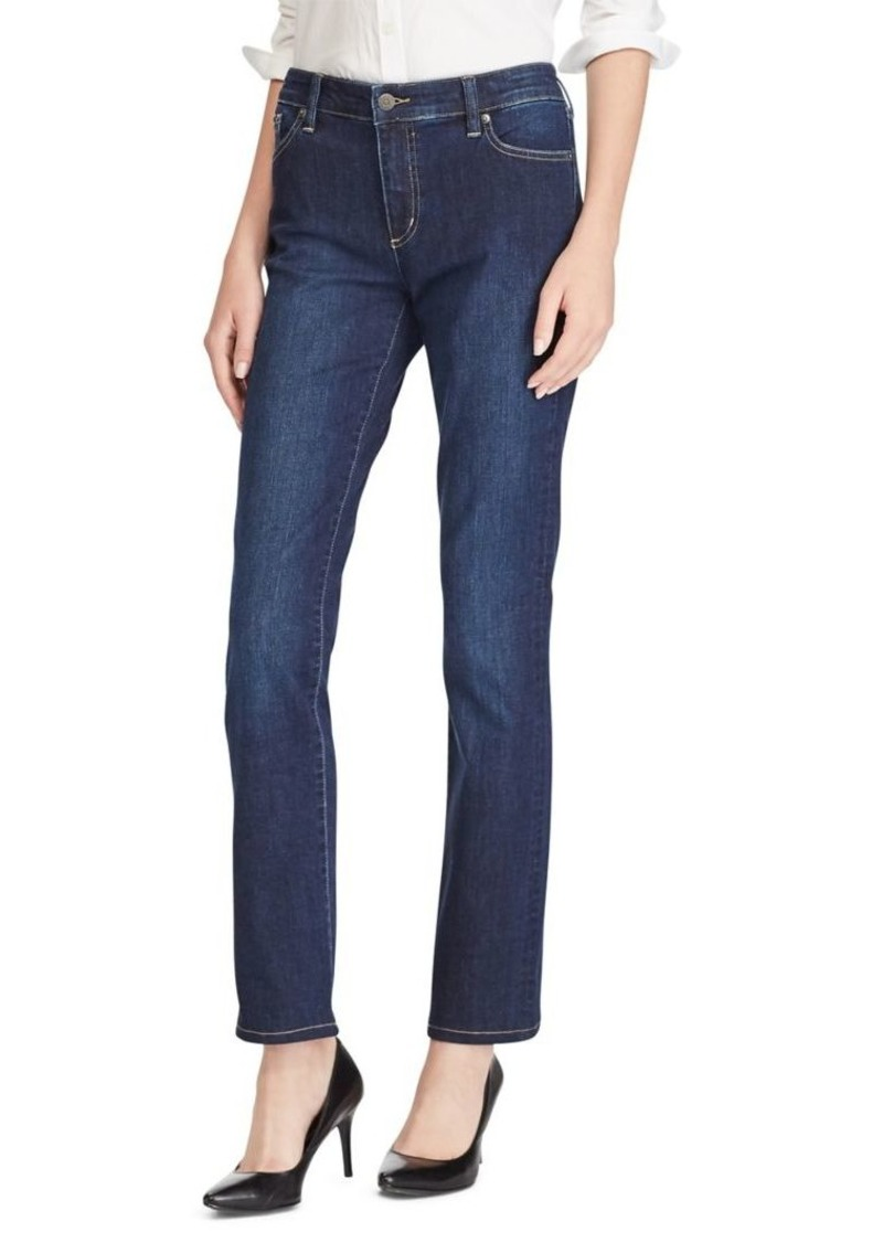 Lauren Ralph Lauren High-Rise Faded Jeans