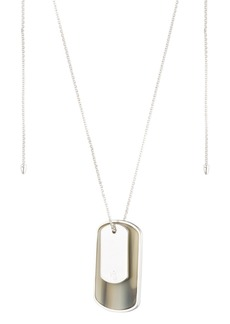 Lauren Ralph Lauren Horn Dog Tag Pendant Necklace, 36""
