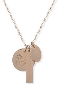"""Lauren Ralph Lauren Horse Charm Pendant Necklace, 24"""""""