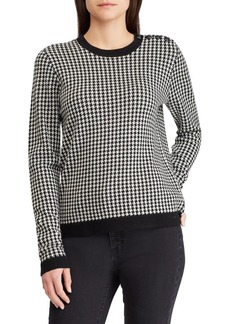 Lauren Ralph Lauren Houndstooth Wool Sweater