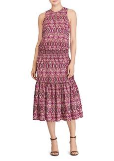 Lauren Ralph Lauren Ikat Print Midi Dress