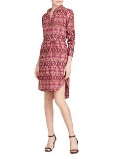 Lauren Ralph Lauren Ikat Print Shirt Dress