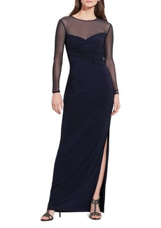 Lauren Ralph Lauren Illusion Detail Gown