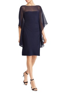 Lauren Ralph Lauren Illusion Flutter-Sleeve Dress