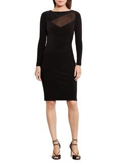 Lauren Ralph Lauren Illusion Inset Body Con Dress