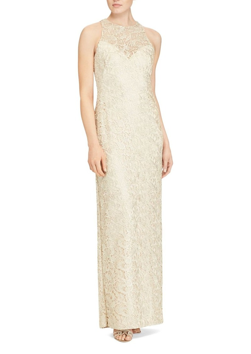 Ralph Lauren Lauren Ralph Lauren Illusion-Yoke Lace Gown | Dresses