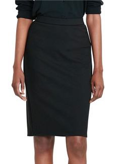 LAUREN RALPH LAUREN Iverna Faux Leather Trimmed Pencil Skirt