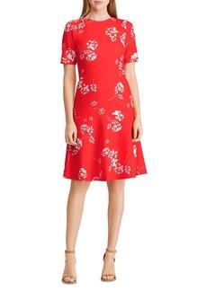 Lauren Ralph Lauren Jacquard Crepe Floral Dress