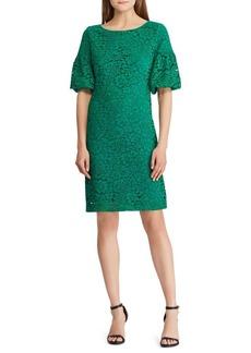 Lauren Ralph Lauren Jenessa Lace Bell Sleeve Dress