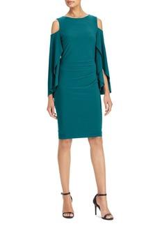 Lauren Ralph Lauren Jersey Cold-Shoulder Dress