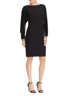Lauren Ralph Lauren Jersey Flutter-Sleeve Dress