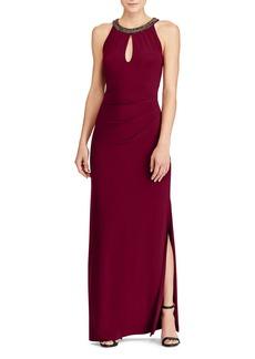 Lauren Ralph Lauren Jersey Keyhole Gown