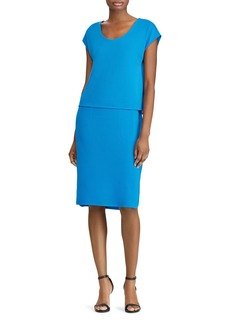 Lauren Ralph Lauren Jersey Layered-Look Dress