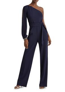Lauren Ralph Lauren Jersey One-Shoulder Jumpsuit