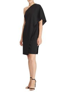 Lauren Ralph Lauren Jersey One-Shoulder Sheath Dress