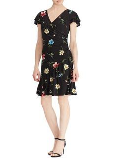 Lauren Ralph Lauren Jersey Surplice Fit-&-Flare Dress