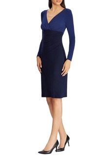 Lauren Ralph Lauren Jersey Surplice Sheath Dress