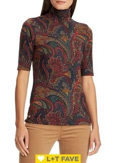 Lauren Ralph Lauren Jersey Turtleneck Sweater