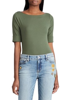 Lauren Ralph Lauren Judy Boatneck Stretch-Cotton Top