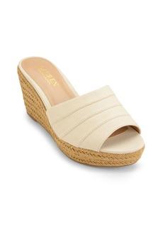Lauren Ralph Lauren Karlia Linen Wedge Sandals