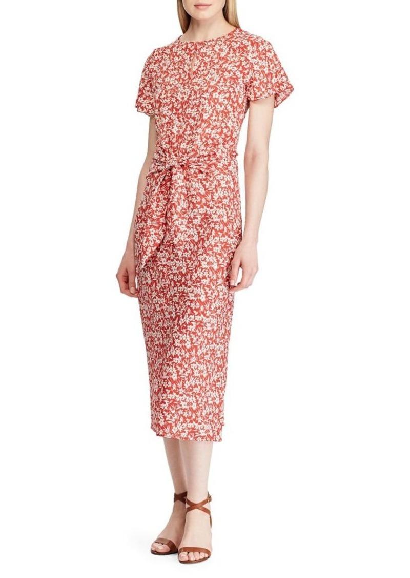 Lauren Ralph Lauren Keyhole Crepe Dress