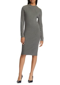 Lauren Ralph Lauren Knee-Length Cotton-Blend Sweater Dress