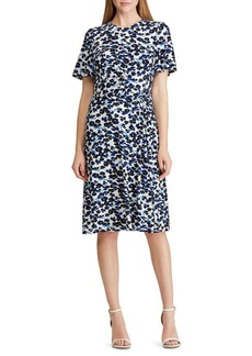 Lauren Ralph Lauren Knotted Floral Jersey Dress