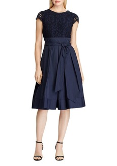 Lauren Ralph Lauren Lace and Taffeta Party Dress