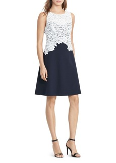 Lauren Ralph Lauren Lace-Bodice Dress