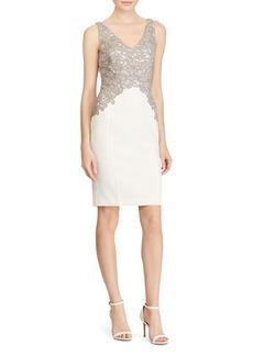Lauren Ralph Lauren Lace-Bodice Sheath Dress - 100% Exclusive