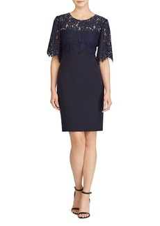 Lauren Ralph Lauren Lace-Bodice Sheath Dress