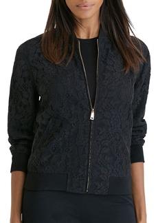 Lauren Ralph Lauren Lace Bomber Jacket